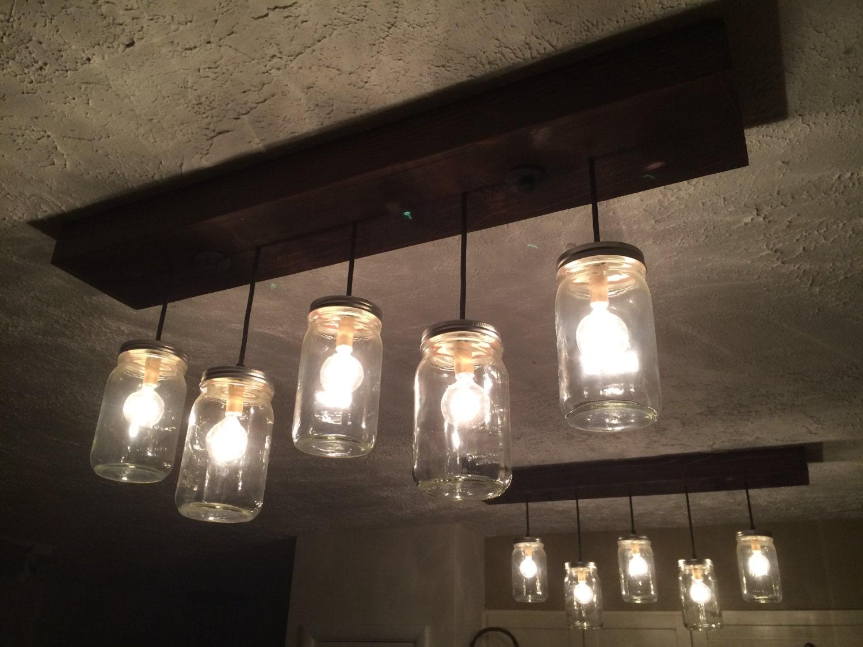 5 Pendant Mason Jar Chandelier Kitchen Lighting Mason Jar