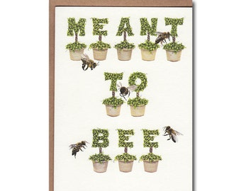 Meant To Bee Notecards - Topiary Notecards - Bee Stationery