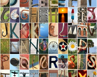 Photo Art Letter Magnets - fun and educational for kids of all ages