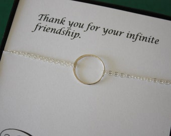 5 Bridesmaid Bracelets, Bridesmaid Gift, Frienship Jewelry, Sterling Silver Bracelet, Bridesmaid Thank You Card, White Pearl, Silver