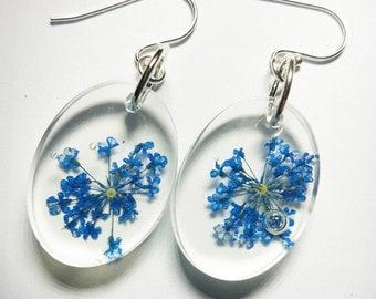 Bewitching Blue Flower Earrings