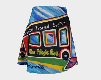 Take a ride with your magic bus skirt on. The guys will love you. Be kewl! For spring and summer.