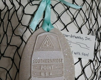 KEY WEST SOUTHERNMOST Point Buoy Sand Ornament