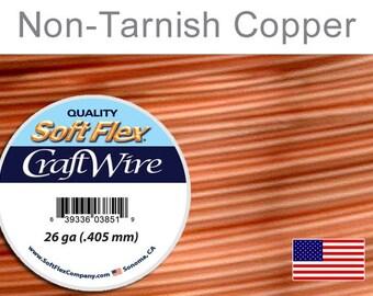 26 Gauge Non Tarnish Copper Wire, Soft Flex, Round, Supplies, Findings, Craft Wire
