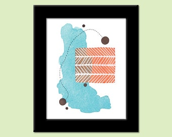 Colors of the Day 36 - Colorful Contemporary Modern Abstract Art Print by Megan Q.C. Gallagher
