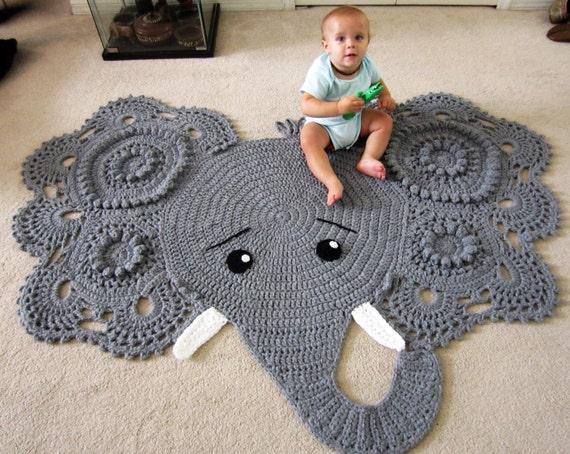 Elephant Rug Crochet Elephant Crochet Elephant Rug Elephant