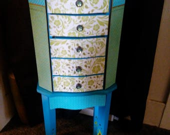 Jewelry armoire/ Patchwork Spring