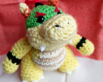 Yoshi's Woolly World Baby Bowser/ Bowser Jr. Crochet Amigurumi Plushie