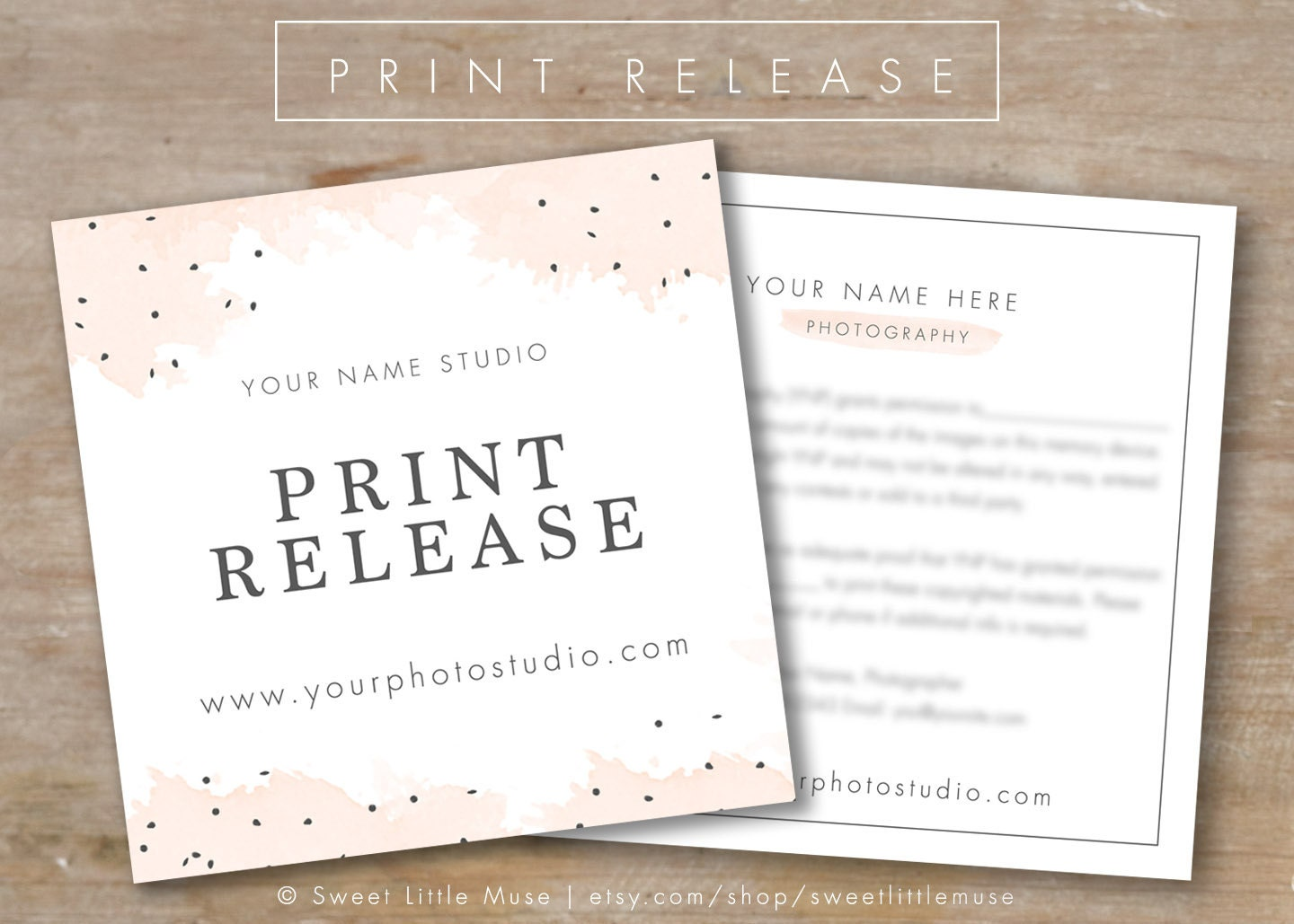 Print Release Template Images - Template Design Ideas