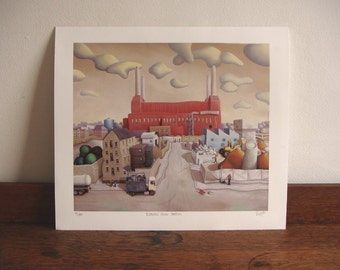 London print - Battersea power station print - limited edition giclee print - London art