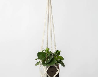 simple macrame plant hanger modern macrame planthanger * boho plants * pot holder handmade plant hanger natural cotton macrame sustainable
