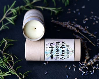 Lavender, Rosemary & Tea Tree Deodorant - Organic Deodorant - All Natural Deodorant