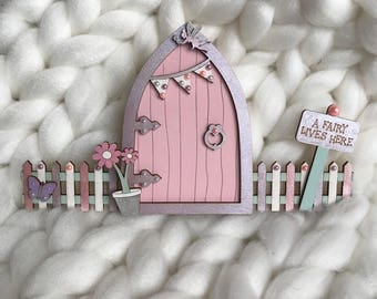 Wooden Princess Fairy Door - Creative Play - Fairytale Decor - Childrens Decor
