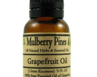 Grapefruit Essential Oil - Citrus racemosa - 1/2 Ounce Bottle - Mulberry Pines