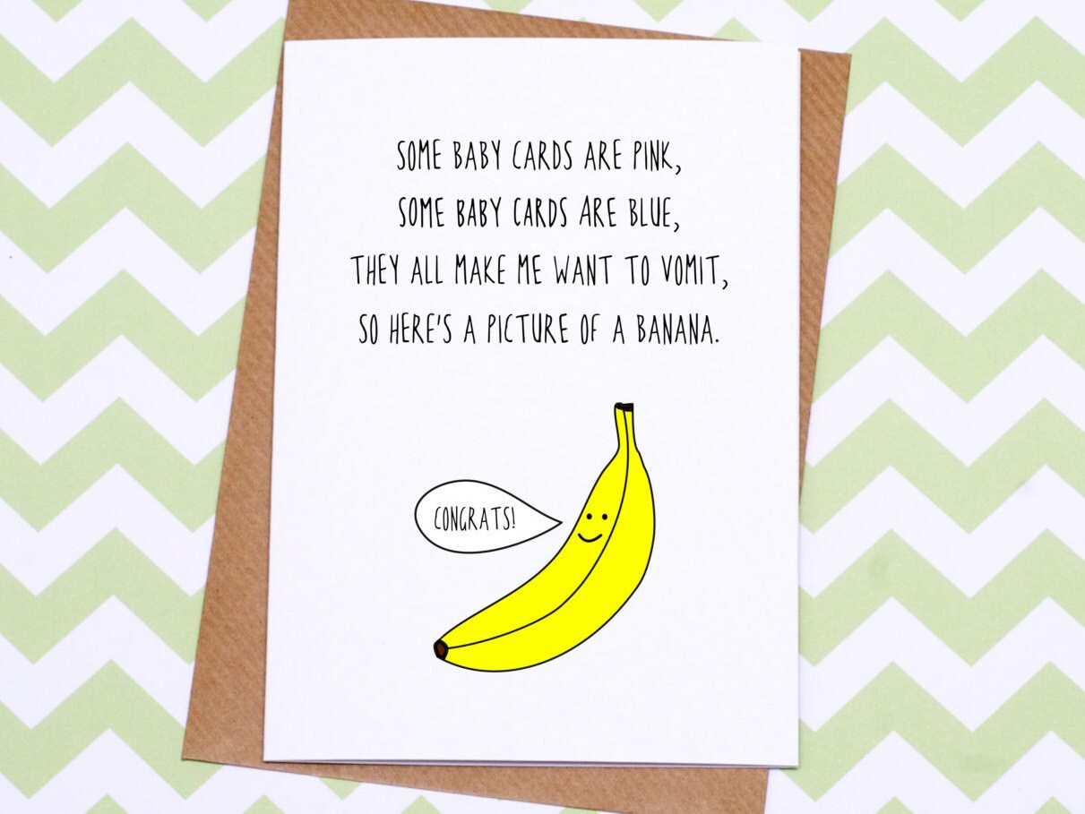 Funny new baby card different baby card banana baby card zoom kristyandbryce Images