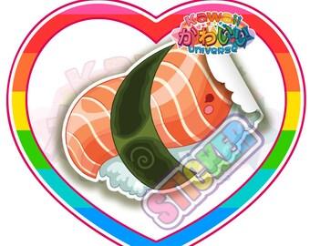 Kawaii Cute Salmon Nigiri Sushi Sticker