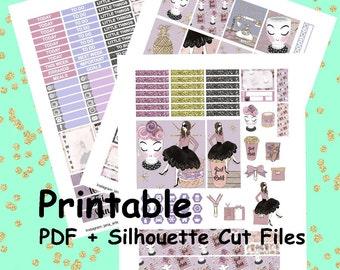 Plan Like a Boss, Printable Stickers, Weekly Kit, Weekly Planner Stickers, Printable Weekly Kit, Planner Girl weekly kit,