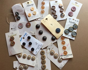 BUNCHES of tan, brown and black BUTTONS