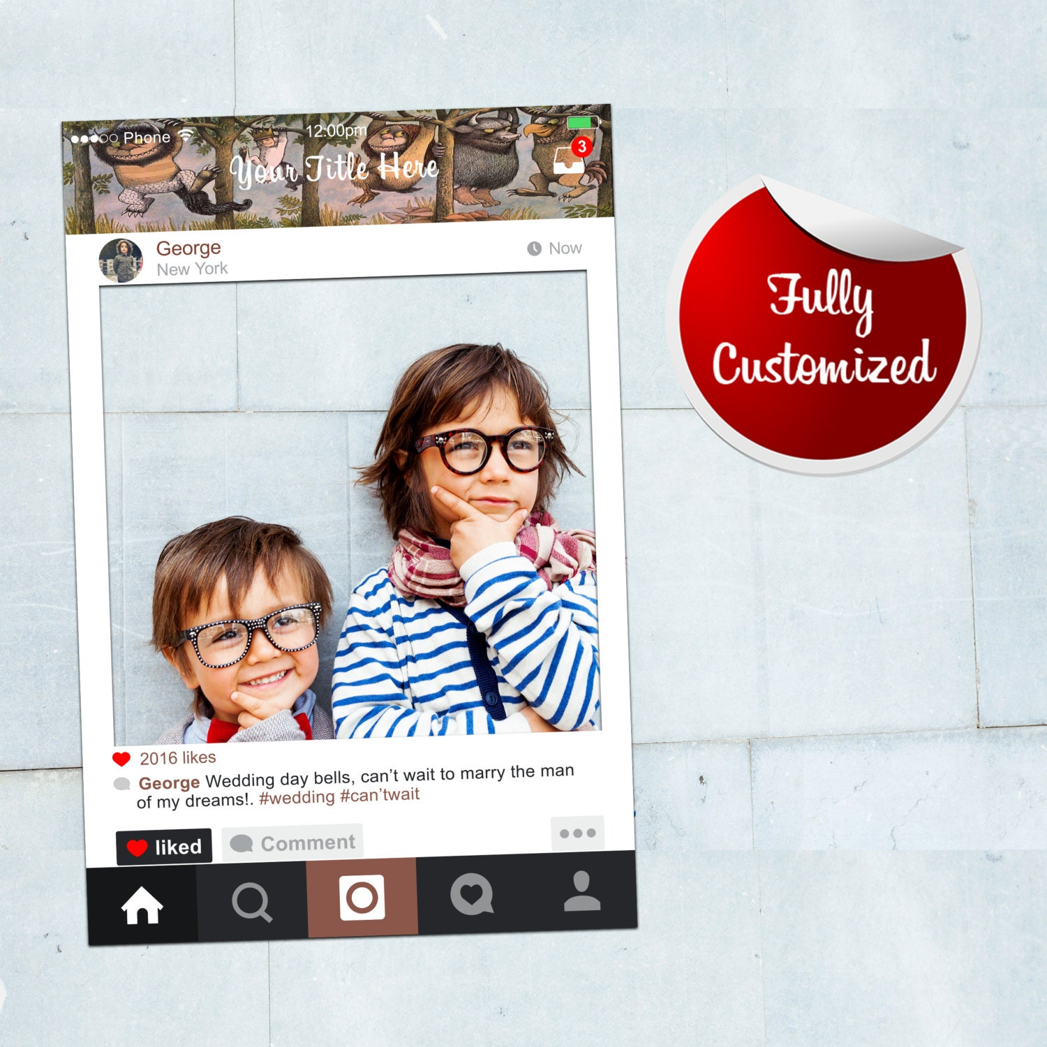 Where The Wild Things Are Frame Instagram Frame Birthday
