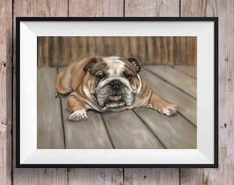 Bulldog Wall Art - Bulldog Print - Bulldog Artwork - Dog Picture - Dog Print - Bulldog Art - British Bulldog - Bulldog Gift - Bulldog Lover