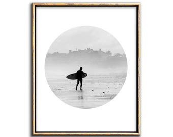 Surf Print, Beach Decor, Printable Art, Surf Board, Beach House Decor, Downloadable, Wall Art, Art, Prints, Surf Poster, Beach, Modern, Art