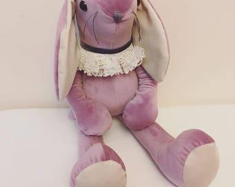 Lilac velvet bunny ... velveteen rabbit