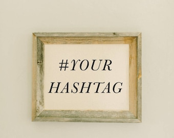 Personalized Barn Wood Framed Print - Your Hashtag
