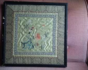 Vintage Oriental Embroidery on Silk