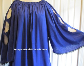 DDNJ Choose Color Renaissance Gothic Keyhole Chemise Plus Custom Made ANY Size Anime Cosplay LARP Lolita Steampunk Pirate  Wench Costume