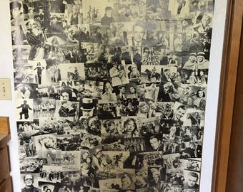 Large Black and White collage of Movie photos.