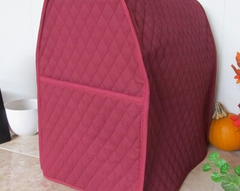 Burgundy Mixer Cover for Kitchen Aid Mixer 6 Qt Small Appliance Cover Made To Order