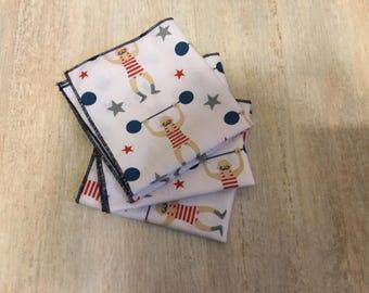 Set of 3 handkerchiefs for men or children