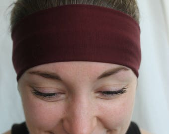 Maroon non-slip headband