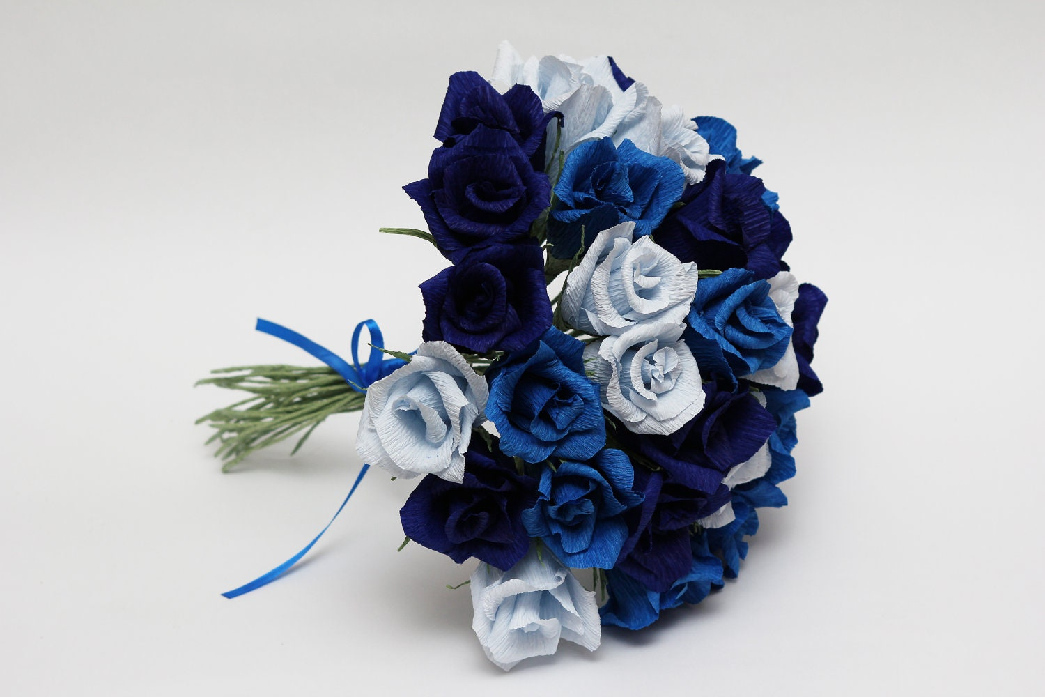 blue flowers wedding bouquet bridesmaid bouquet paper flowers wedding flowers wedding 1934
