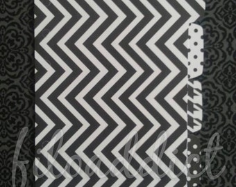 A5 Filofax Planner Dividers - 5 side tabs - Black and White