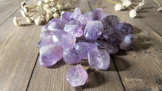 Large Premium Tumbled Amethyst Gemstones, Purple February Birthstone, Aquarius Zodiac Sign, Natural Amethyst Stone, Healing Crystals
