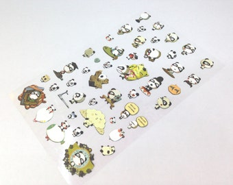 Cute Panda Stickers; Pretty Stickers; Planner Stickers; Cute Stickers; Filofax; Kawaii; Cute Stationery; Korean Stationery