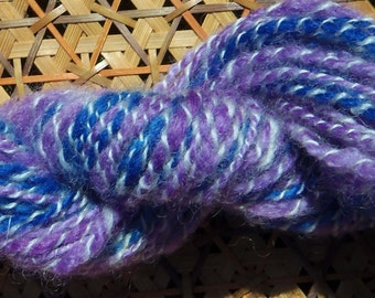 Handspun Wool Yarn 60 yards Worsted Weight