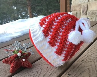 Peppermint Sundae Convertible Hat- Crochet Patterns, Crochet Hat Patterns, Crochet Beanie Patterns, Crochet ponytail Hats, Adult sizes