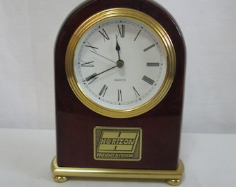 80s Commemorative Clock - Horizon Freight System - Award Clock Trucking Company Well Made Clock - See Details - Truck Driver