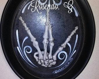 West coast 3D Skull hand.