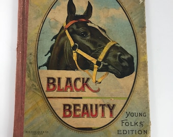 Vintage Hardback Black Beauty Young Folks Edition Book