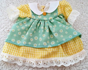 """Outfit for 15"""" dolls - Dress, bloomers, headband"""