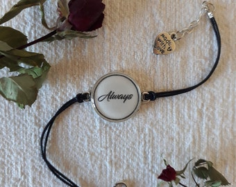 "Harry Potter Bracelet - ""Always"" quote"