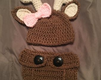 Crochet Deer Baby Outfit