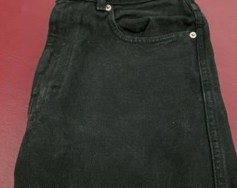 Vintage Size 6 Calvin Klein Black Denim Jeans