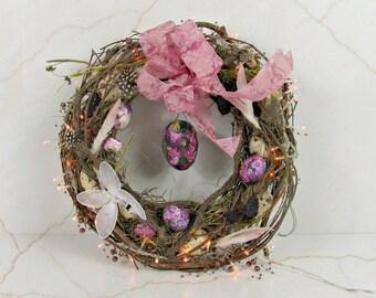 Easter decoration, Easter decoration light 2, door wreath