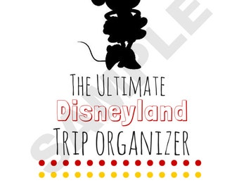 Minnie Mouse Ultimate Disneyland Travel Planner Printable: Instant Download!
