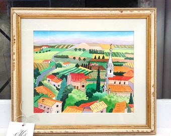 Original Signed Watercolor Painting by Listed Artist, Jean Harney