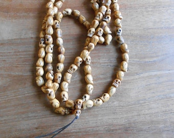 Tibetan Tribal Jak leg skull Meditation Prayer Necklace